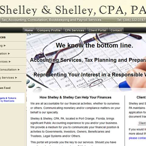 Secure document transfer and custom web design in PHP for CPA firm